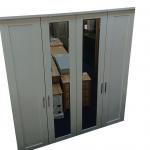 cambridge white glass mirrored wardrobe