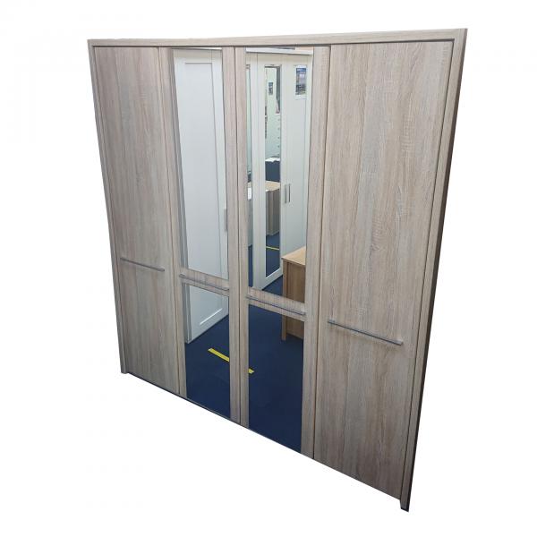 dakar light brown mirrored wardrobe furniture