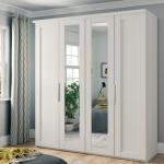 cambridge white mirrored wardrobe furniture