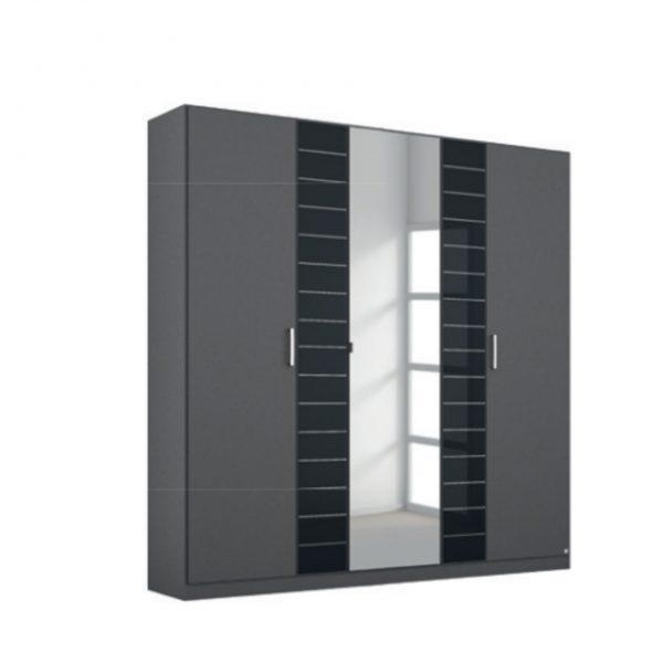 terano black gloss mirrored rauch wardrobe