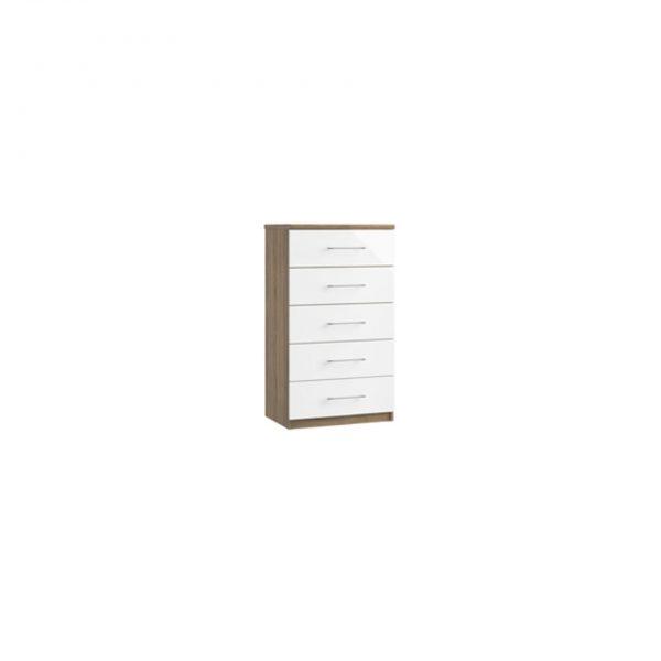 catalia five drawer midi chest