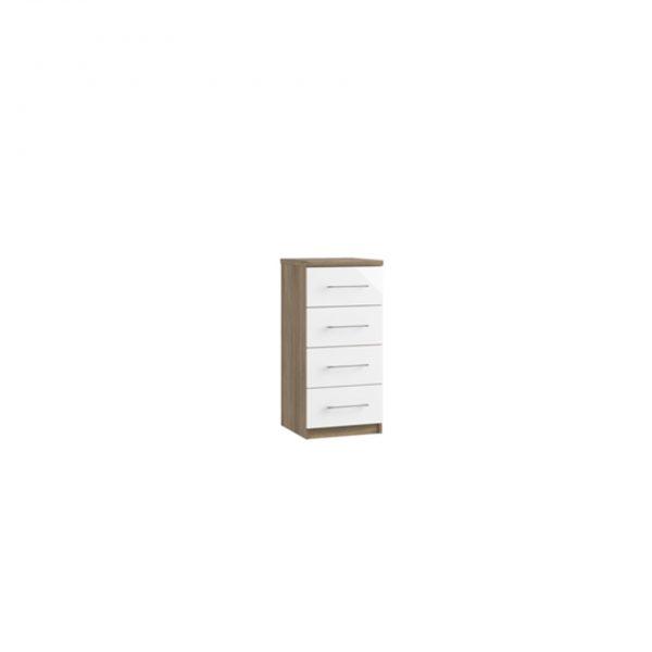 catalia narrow four drawer chest