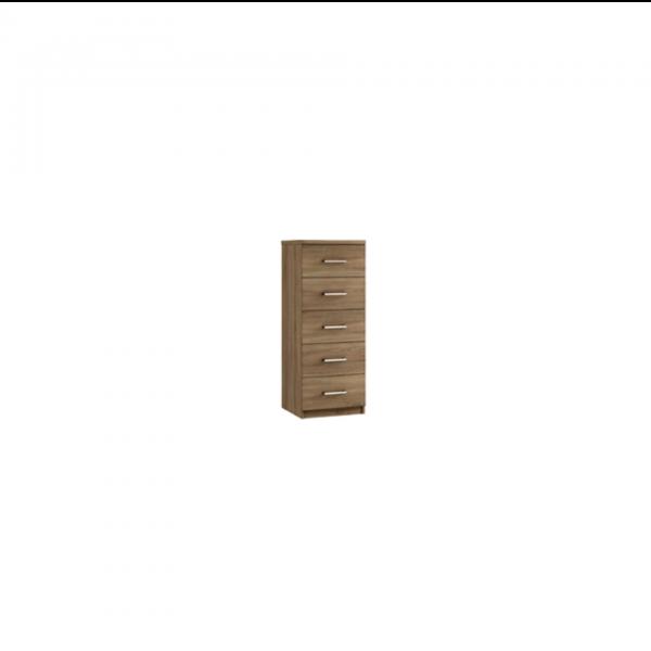modena five narrow drawer chest