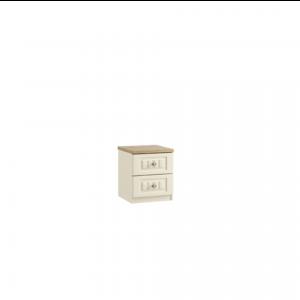portofino 2 drawer bedside cabinet