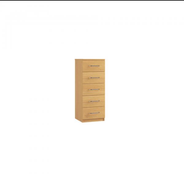 ravenna 5 drawer narrow cabinet chest