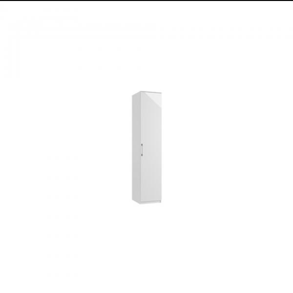 roma single door wardrobe white