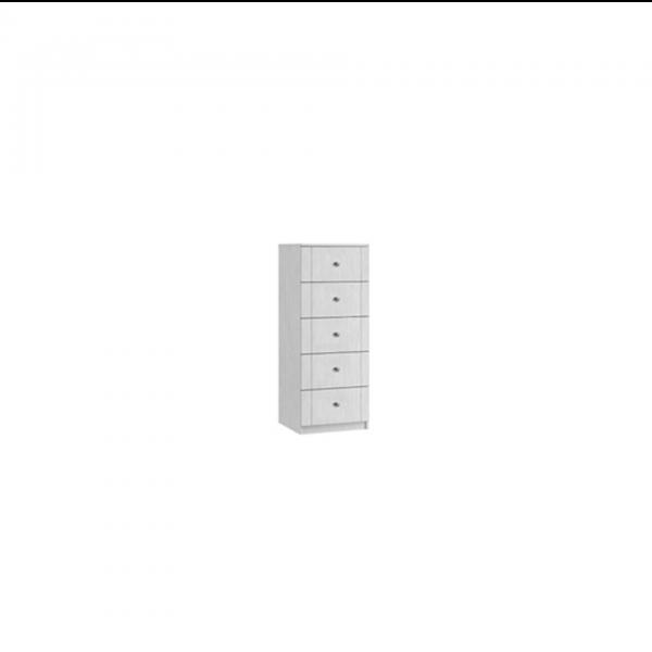 siena five drawer narrow chest