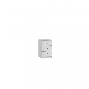 siena three drawer bedside cabinet