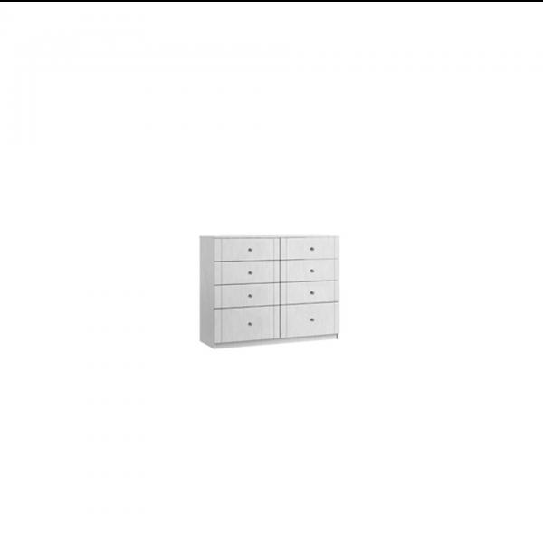 siena twin eight drawer chest
