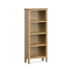 Bath Oak Slim Bookcase