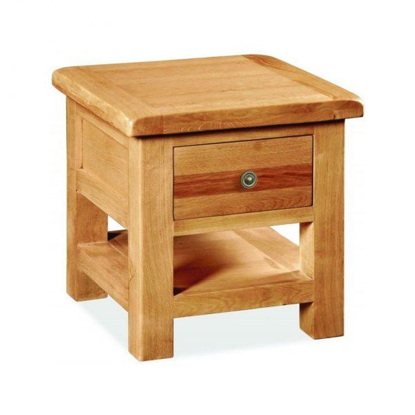 Cork Oak 1 Drawer Lamp Table