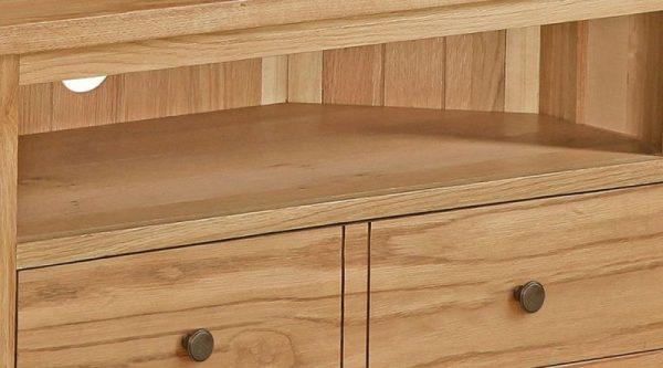 Global Home Cork Lite Oak Corner TV Unit