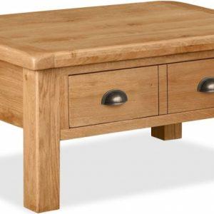 Global Home Cork Oak 2 Drawer Coffee Table
