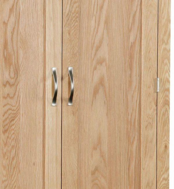 Global Home New Trinity Oak 2 Door 1 Drawer Wardrobe