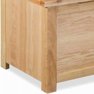 Global Home New Trinity Oak Blanket Box
