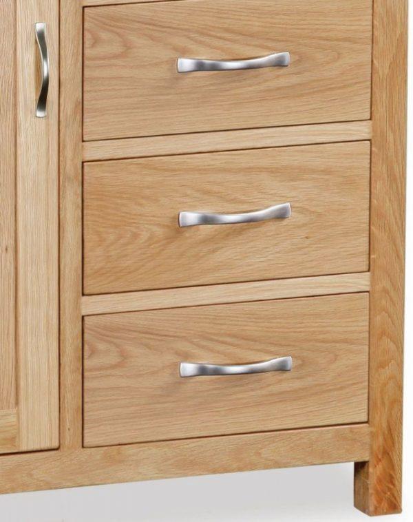 Global Home New Trinity Oak Combination Wardrobe