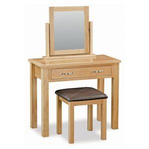New Trinity Oak Dressing Table Set