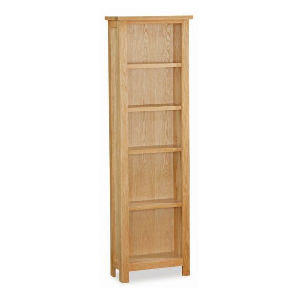 New Trinity Oak Slim Bookcase