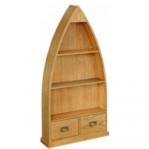 Salisbury Lite Oak Boat Bookcase