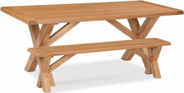 Salisbury Oak 190cm Cross Leg Dining Table