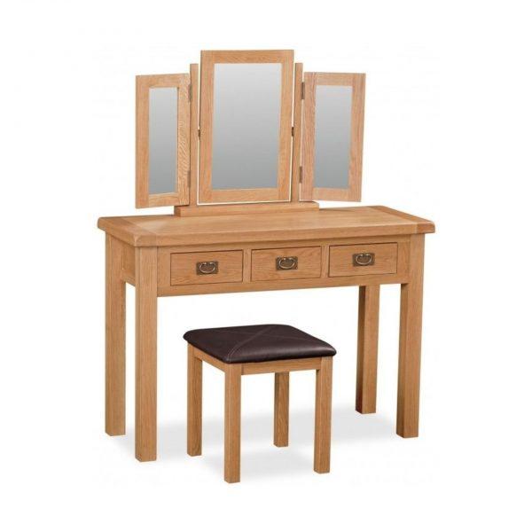 Salisbury Oak Stool Dressing Table