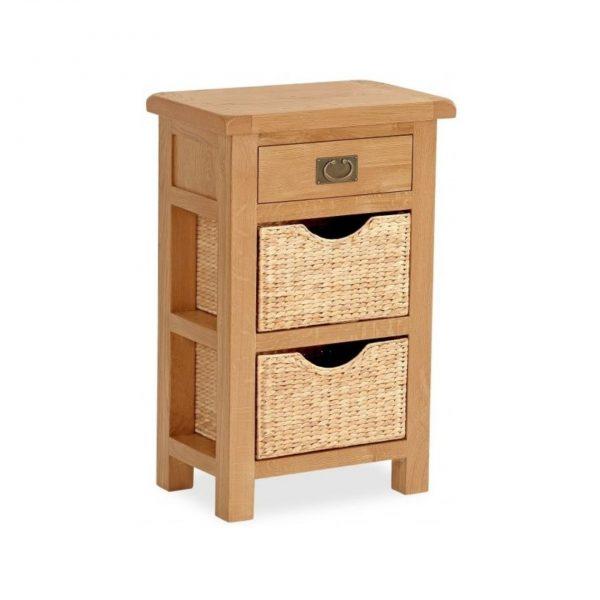 Salisbury Oak Telephone Table with Baskets