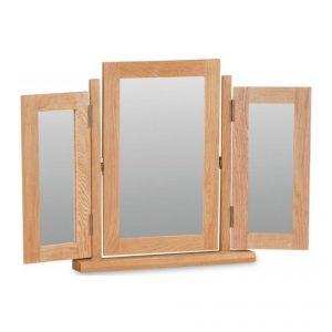 Salisbury Oak Triple Mirror