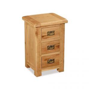 Salisbury Oak Wide Bedside Cabinet