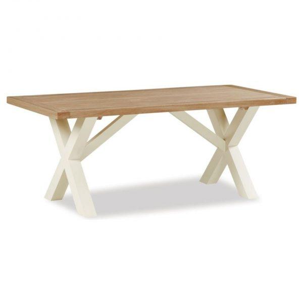 Suffolk Buttermilk Cross Leg Dining Table