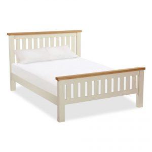 Suffolk Oak and Buttermilk Slatted Bed