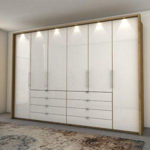 Loft 6 door oak white 8 drawer
